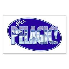 Go Pelagic! Sticker (Rectangle)