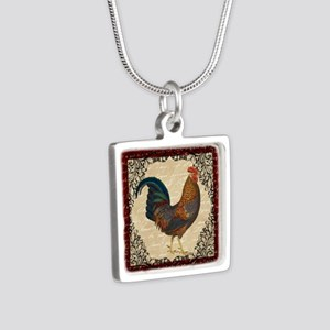 Red Vintage Rooster Necklaces