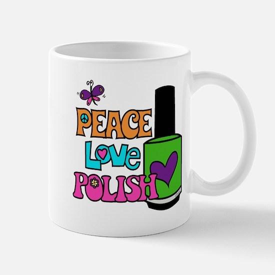 Peace Love Polish Mugs