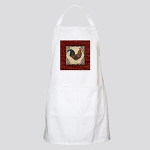 Red Vintage Rooster Apron