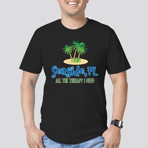 Seaside FL Therapy - Men's Fitted T-Shirt (dark)