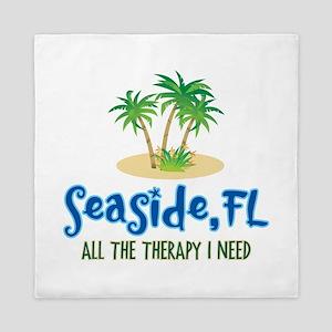 Seaside FL Therapy - Queen Duvet