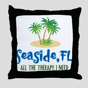 Seaside Fl Therapy - Throw Pillow