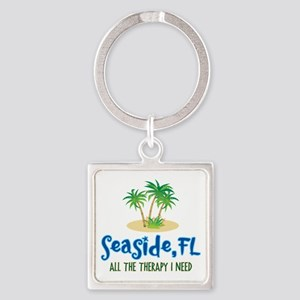 Seaside FL Therapy - Square Keychain