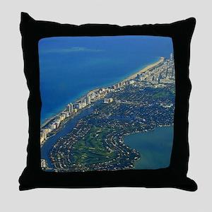 Life's a Beach in Miami Throw Pillow