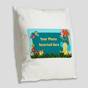 Jungle Cutouts Horizontal Burlap Throw Pillow