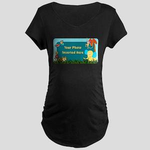 Jungle Cutouts Horizontal Maternity T-Shirt