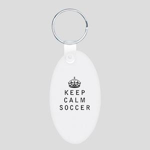 Keep Calm Soccer Keychains