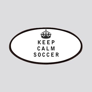 Keep Calm Soccer Patches