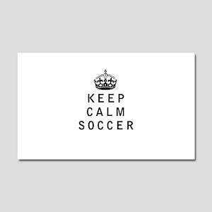 Keep Calm Soccer Car Magnet 20 x 12