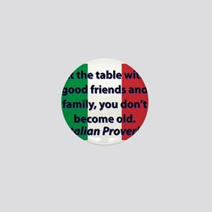 At The Table With Good Friends Mini Button
