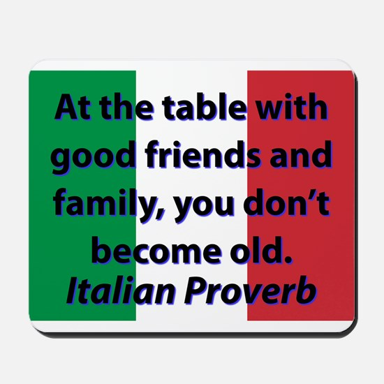 At The Table With Good Friends Mousepad