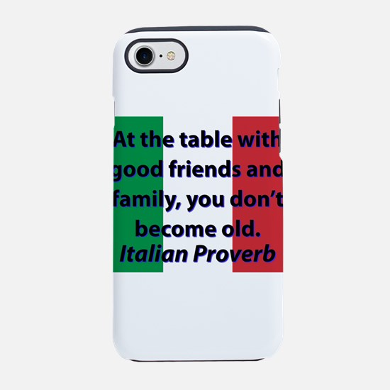 At The Table With Good Friends iPhone 7 Tough Case