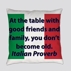 At The Table With Good Friends Everyday Pillow
