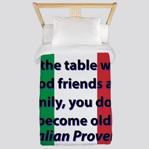 At The Table With Good Friends Twin Duvet Cover