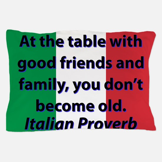 At The Table With Good Friends Pillow Case