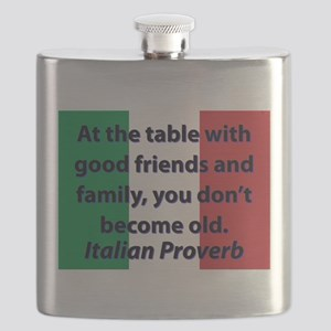 At The Table With Good Friends Flask
