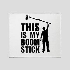 Boom Stick (black logo) Throw Blanket