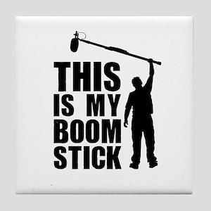 Boom Stick (black Logo) Tile Coaster