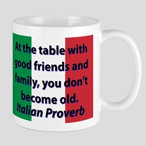 At The Table With Good Friends Mugs