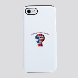 Puerto_Rico_Flag_Fist_5x2 iPhone 7 Tough Case