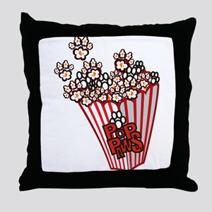 Pop Paws Paw Corn Throw Pillow