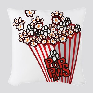 Pop Paws Paw Corn Woven Throw Pillow