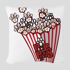 Pop Paws Paw Corn Woven Throw Pillow