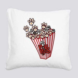 Pop Paws Paw Corn Square Canvas Pillow