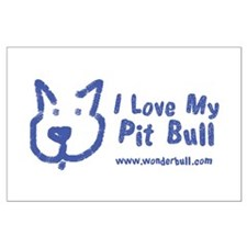 I Love My Pit Bull Posters Large Poster
