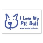 I Love My Pit Bull Sticker (rectangle 50 Pack)