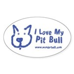 I Love My Pit Bull Sticker (oval 10 Pack)