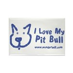 I Love My Pit Bull Magnets (100 Pack)