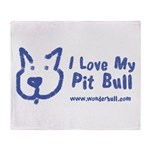 I Love My Pit Bull Throw Blanket