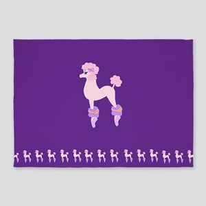 Perfectly Pink Poodle 5'x7'Area Rug