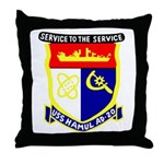 USS Hamul (AD 20) Throw Pillow