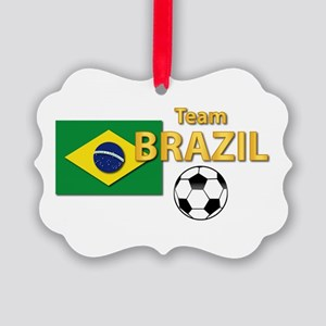 Team Brazil/brasil - Soccer Picture Ornament