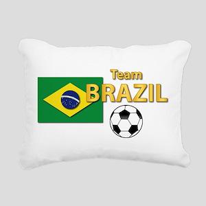 Team Brazil/Brasil - So Rectangular Canvas Pillow