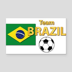 Team Brazil/Brasil - Soccer Rectangle Car Magnet