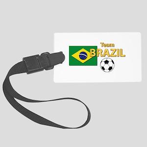 Team Brazil/Brasil - Soccer Large Luggage Tag