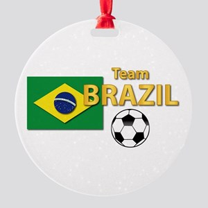 Team Brazil/brasil - Soccer Round Ornament