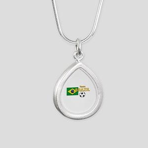 Team Brazil/Brasil - So Silver Teardrop Necklace