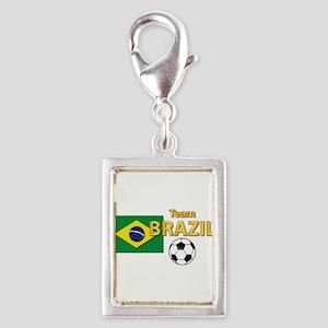 Team Brazil/Brasil - Soccer Silver Portrait Charm