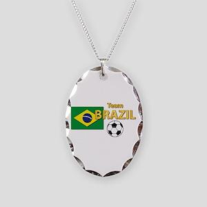Team Brazil/Brasil - Soccer Necklace Oval Charm