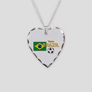 Team Brazil/Brasil - Soccer Necklace Heart Charm