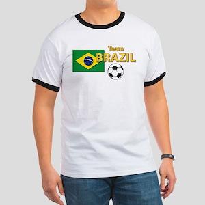 Team Brazil/Brasil - Soccer Ringer T