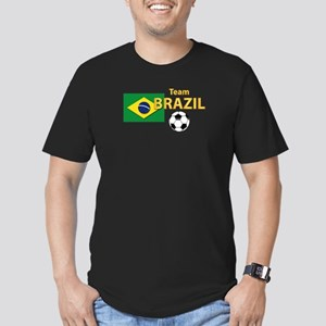 Team Brazil/Brasil - Men's Fitted T-Shirt (dark)
