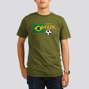 Team Brazil/Brasil - Organic Men's T-Shirt (dark)