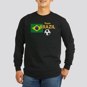 Team Brazil/Brasil - Soc Long Sleeve Dark T-Shirt