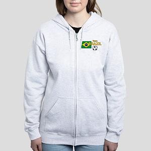 Team Brazil/Brasil - Soccer Women's Zip Hoodie